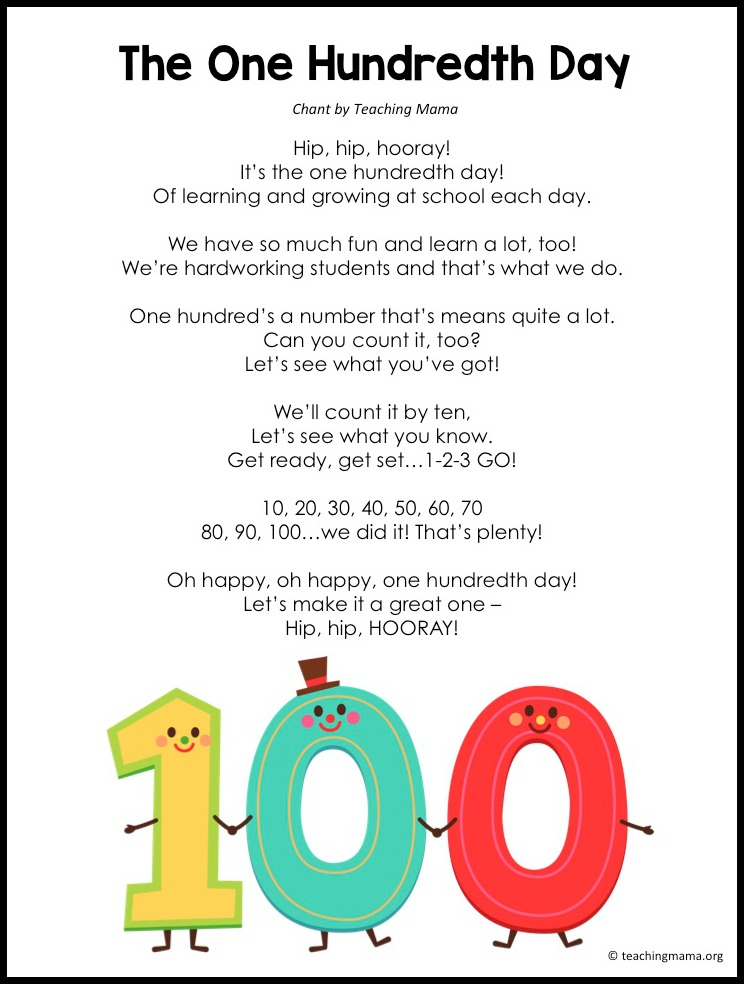 One Hundredth Day Poem