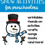 Snow Activities for Preschoolers