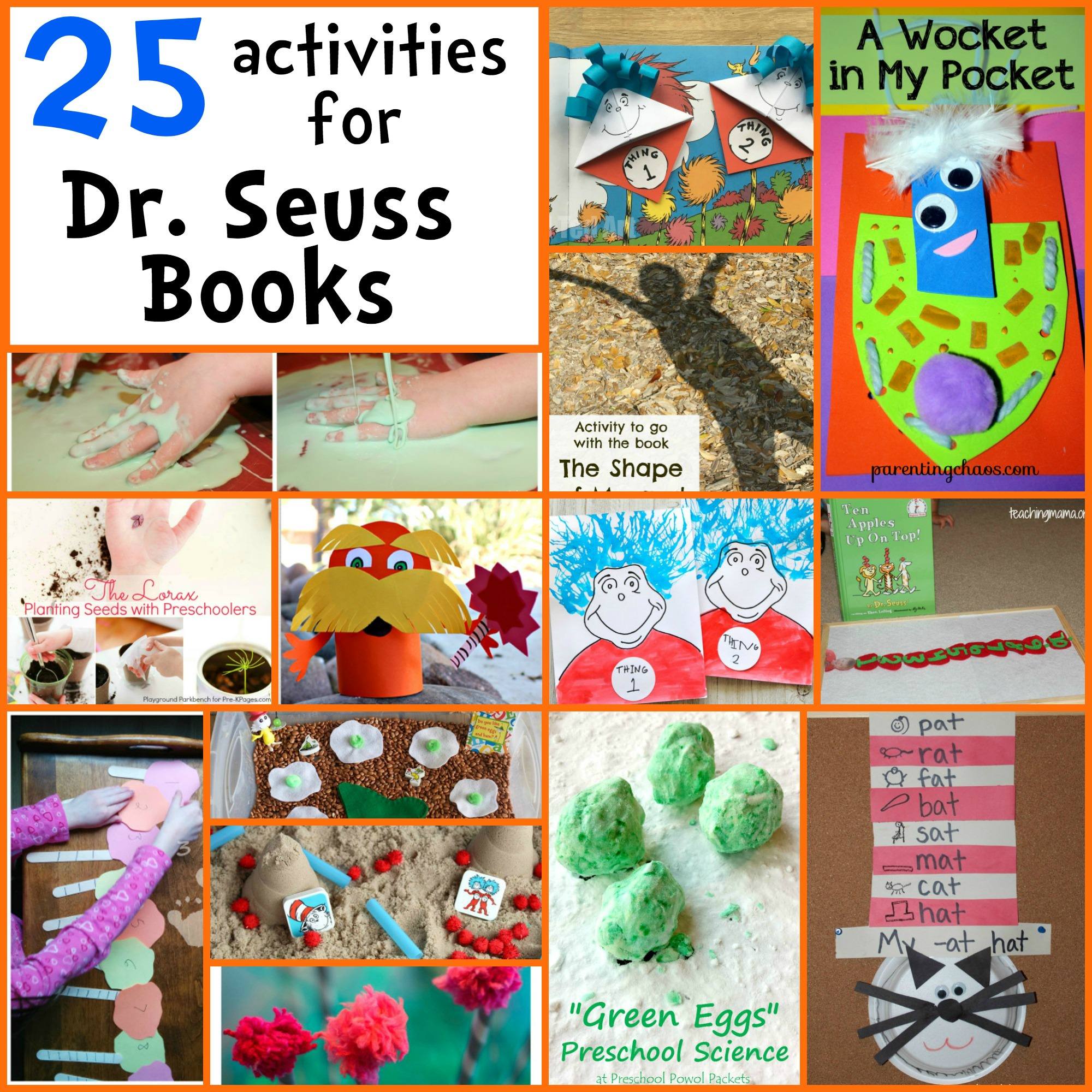 25 Dr Seuss Activities