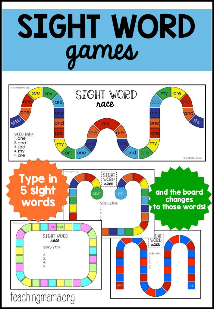 Sight Word Reader Games