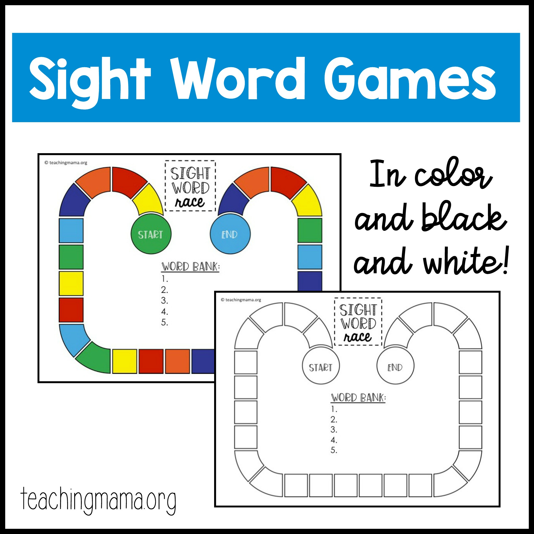 picture about Printable Word Games named Sight Term Online games