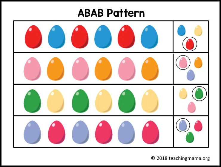 ABAB Pattern Sheet