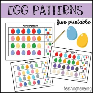 Egg Patterns Printable