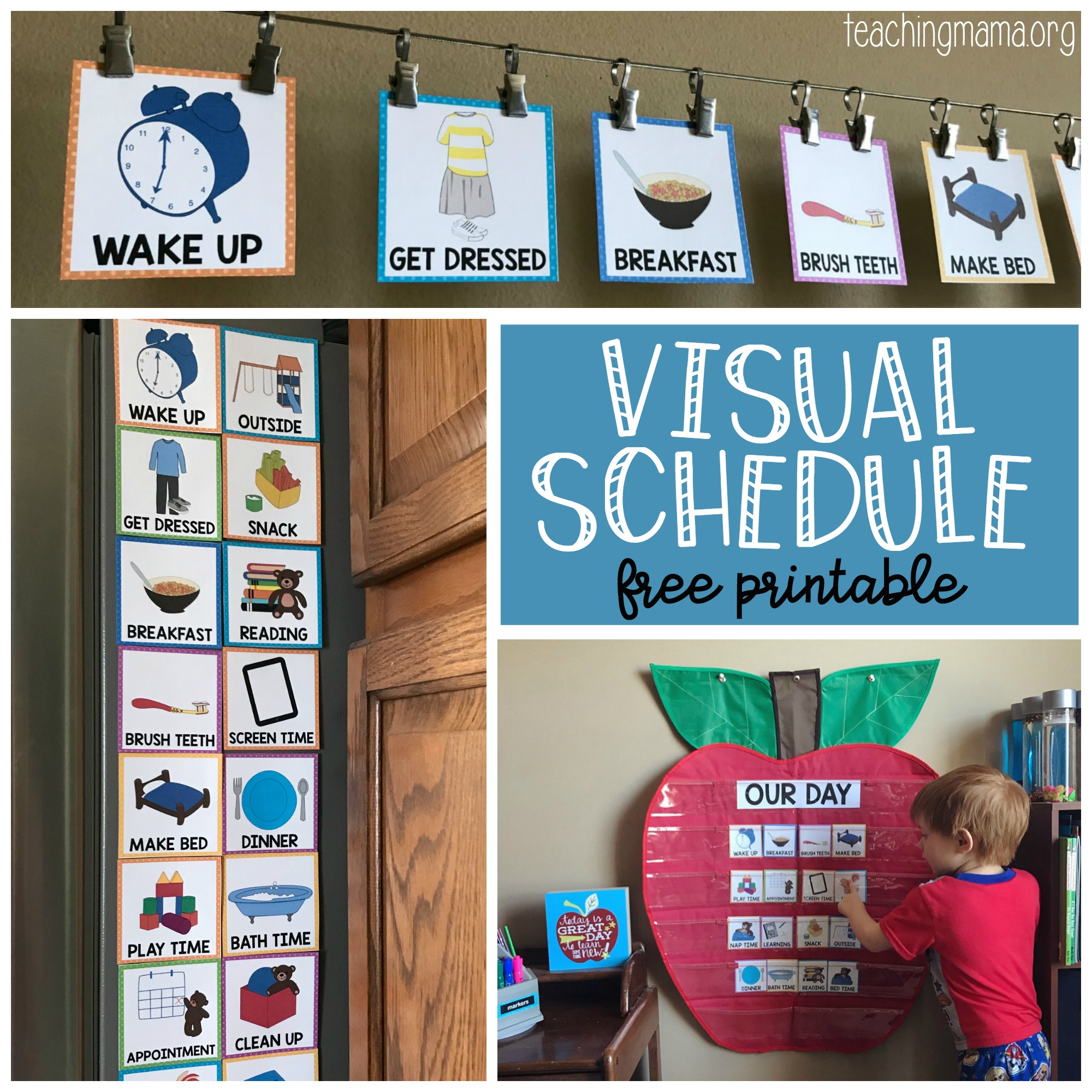 Visual Schedule for children - free printable