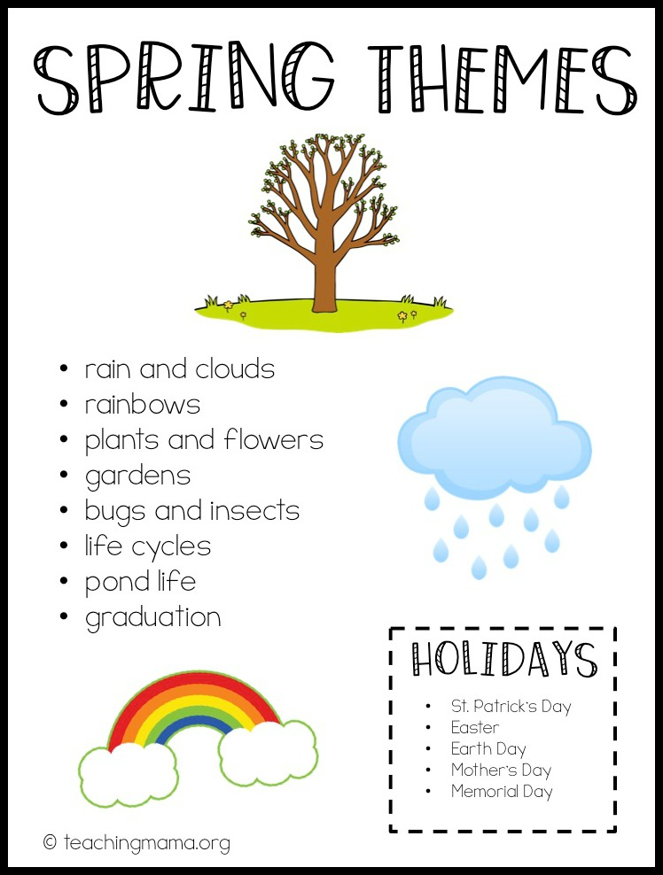 spring themes for preschoolers