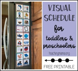 visual schedule for toddlers