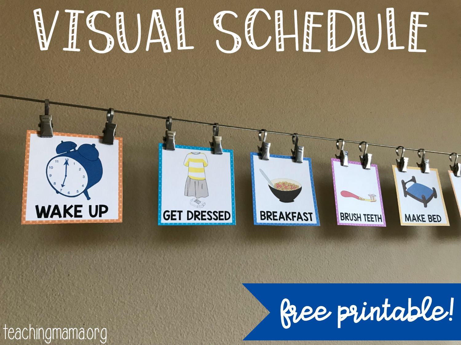 image about Free Printable Visual Schedule for Preschool named Visible Routine for Infants