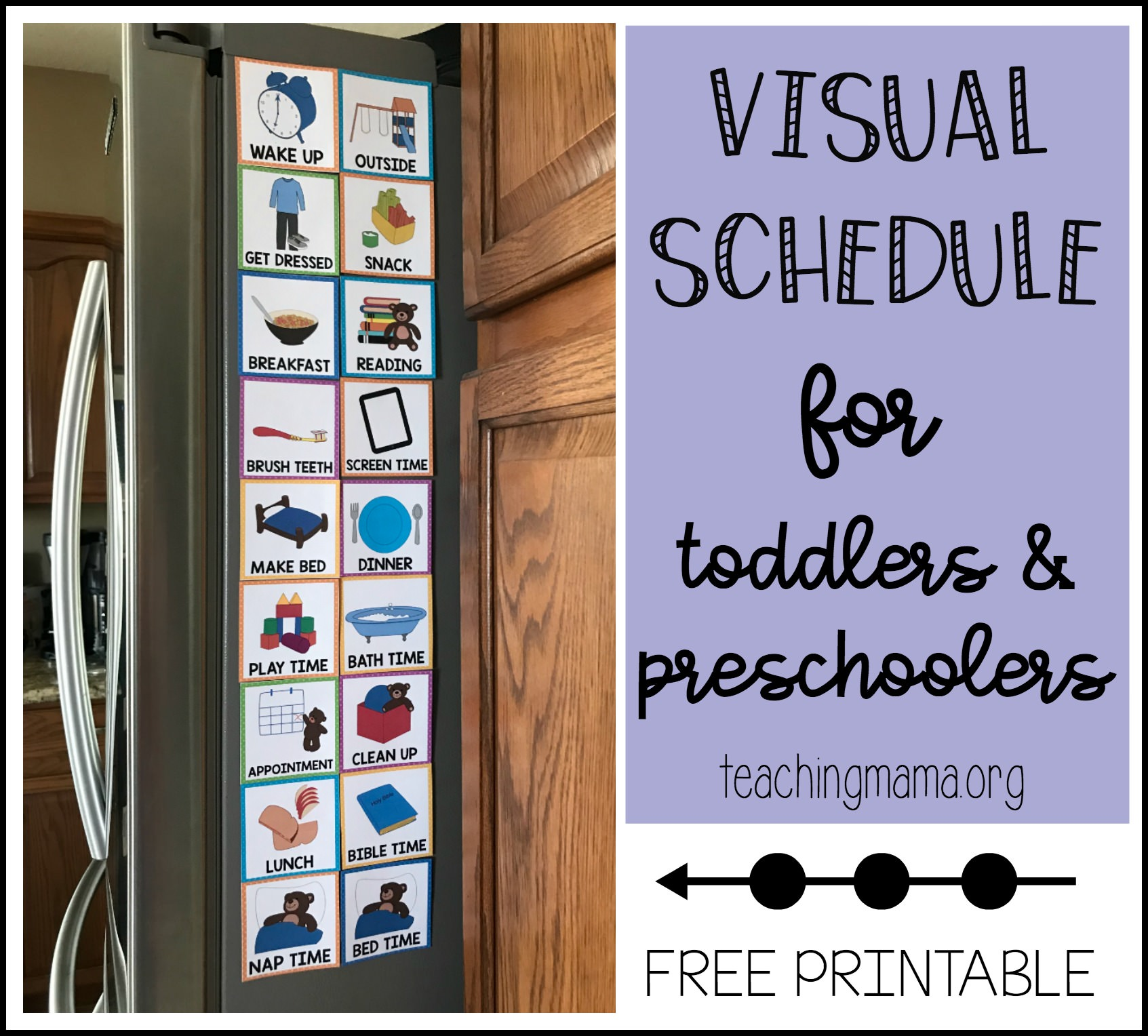 picture regarding Free Printable Visual Schedule for Preschool known as Visible Agenda for Infants