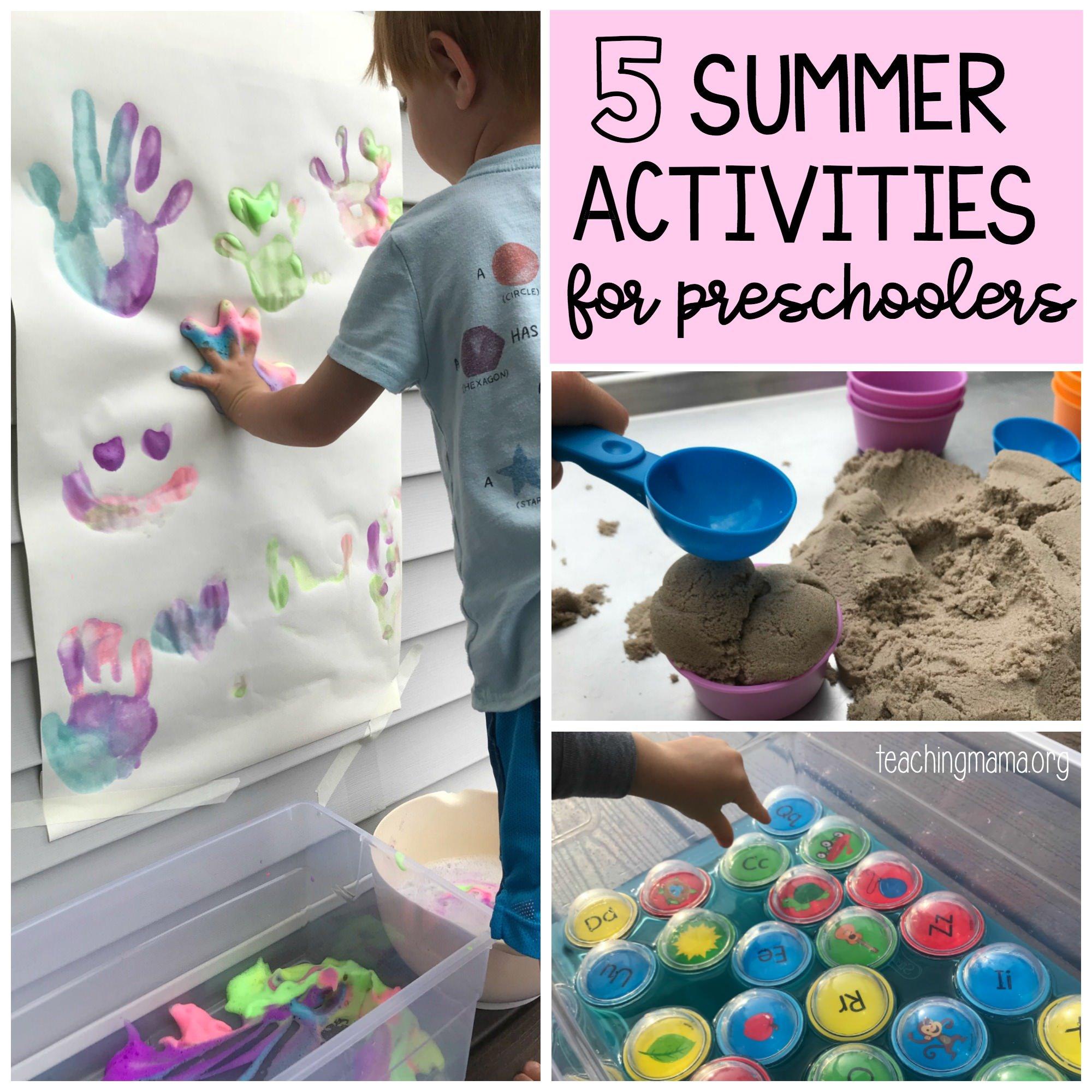 5 Summer Activities For Preschoolers