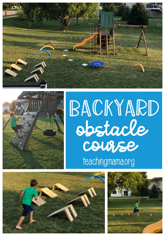 Backyard Obstacle Course - a fun birthday party idea!