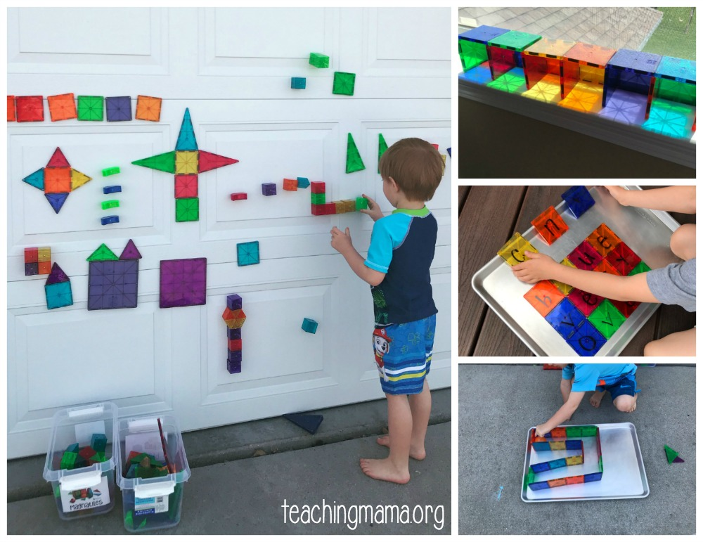 ideas for using magna tiles Fun Ideas for
