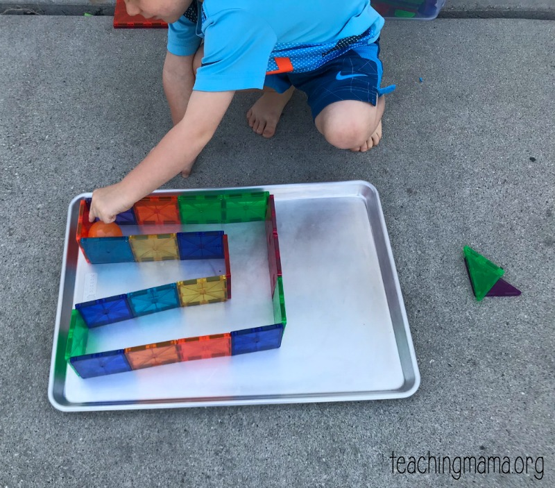 maze with magna-tiles