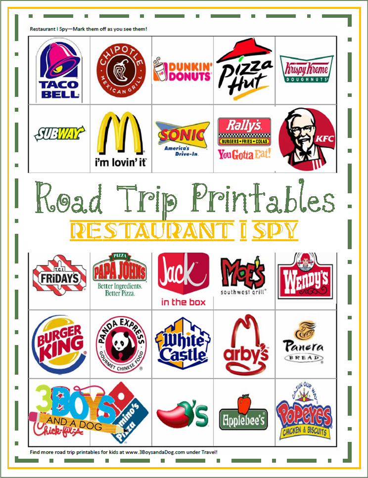 restaurant i spy printable teaching mama