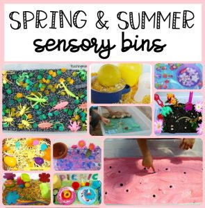 Spring and Summer Sensory Bins