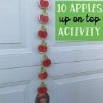 10 Apples Up on Top Preschool Activity