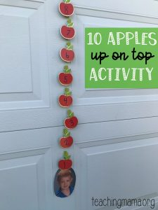 10 Apples Up on Top Preschool Activity