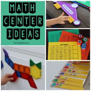 math center ideas