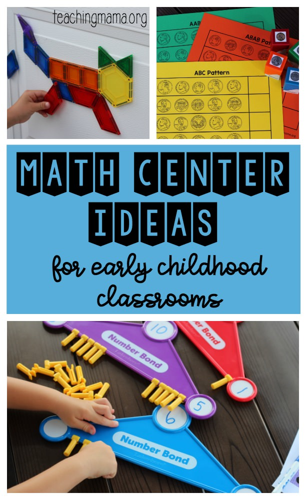 Math Center Ideas for Early Childhood Classrooms