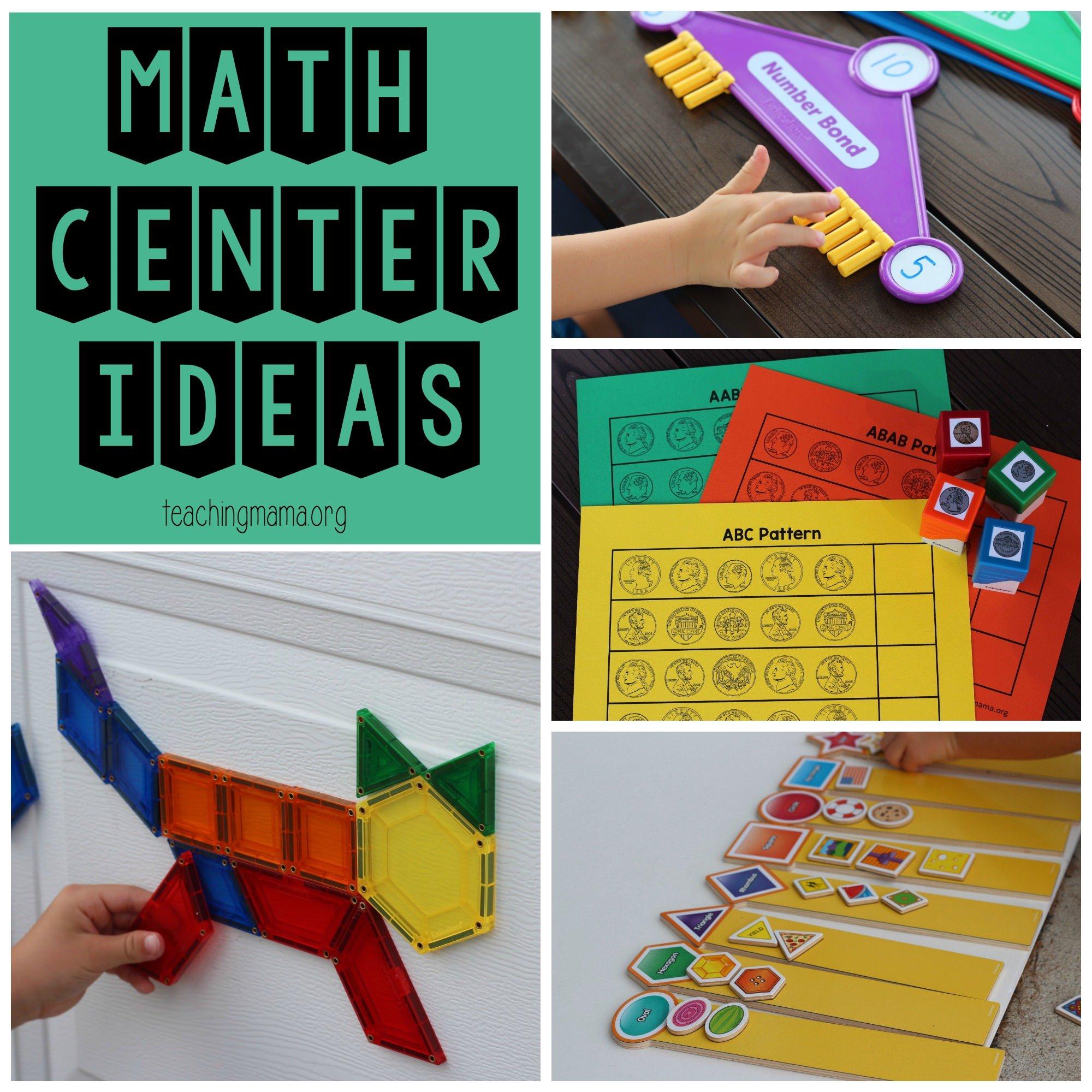 math center ideas