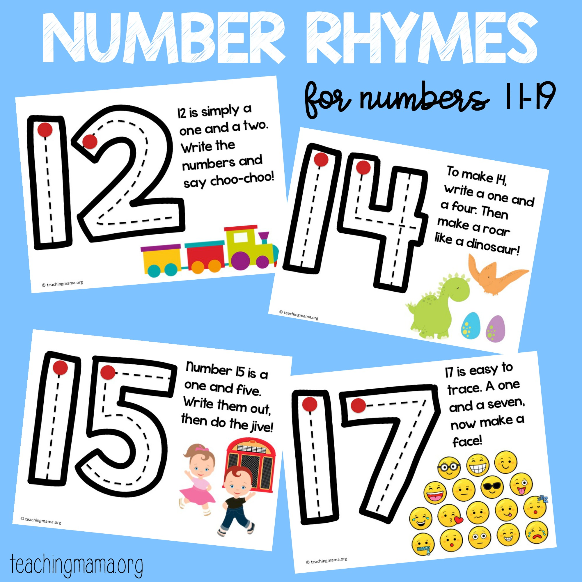 11-19 number rhymes