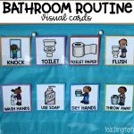 Bathroom Routine Visual Cards