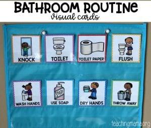 Bathroom Routine Visual Cards