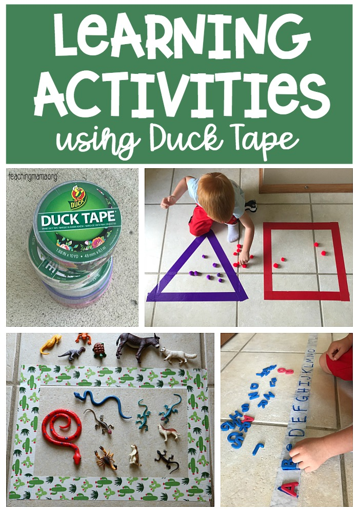 learning activities with duck tape