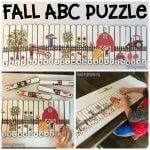 Fall Alphabet Puzzle