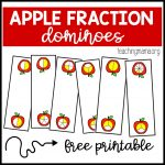 Apple Fraction Dominoes