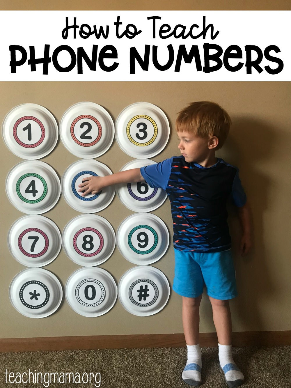 how to teach phone numbers