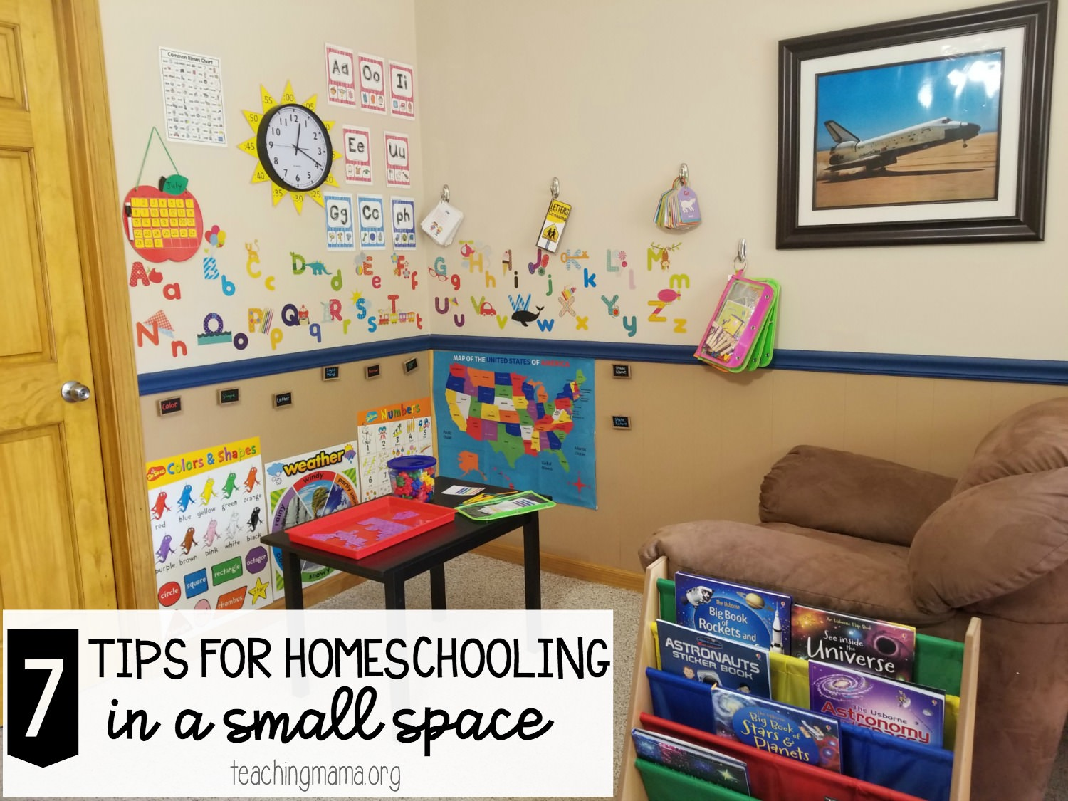 7 tips for homeschooling in a small space