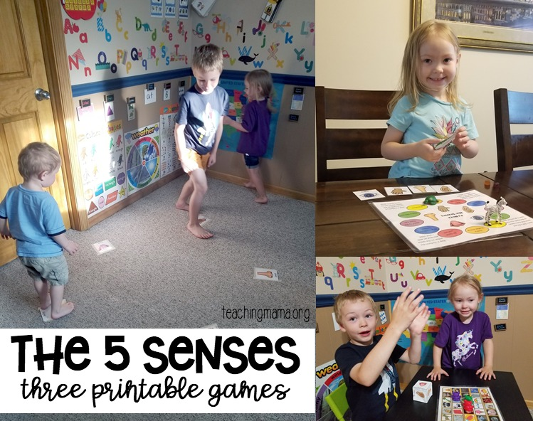 The 5 Senses - 3 printable games