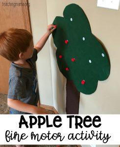 Apple Tree Fine Motor Activity