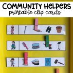 Community Helpers Clip Cards