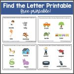 Find the Letter Printable