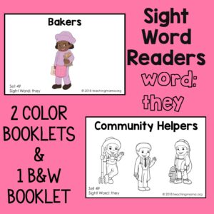 "Sight Word Readers for the Word ""They"""