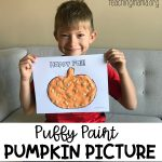 Puffy Paint Pumpkin Picture
