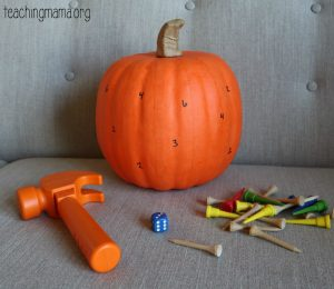 Hammer the Numbers – Pumpkin Activity