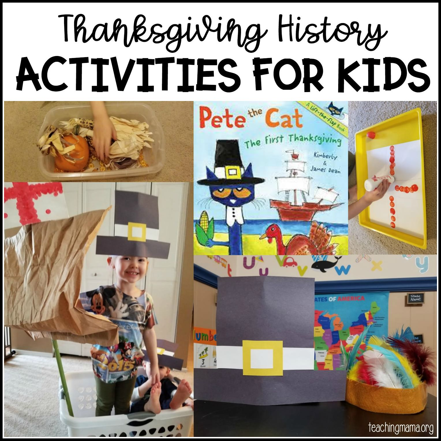 Thanksgiving history activities for kids