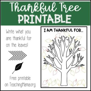 graphic relating to Thankful Tree Printable referred to as Printables Archives - Web page 2 of 16 - Schooling Mama
