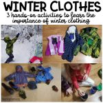 Winter Clothes Activities for Kids