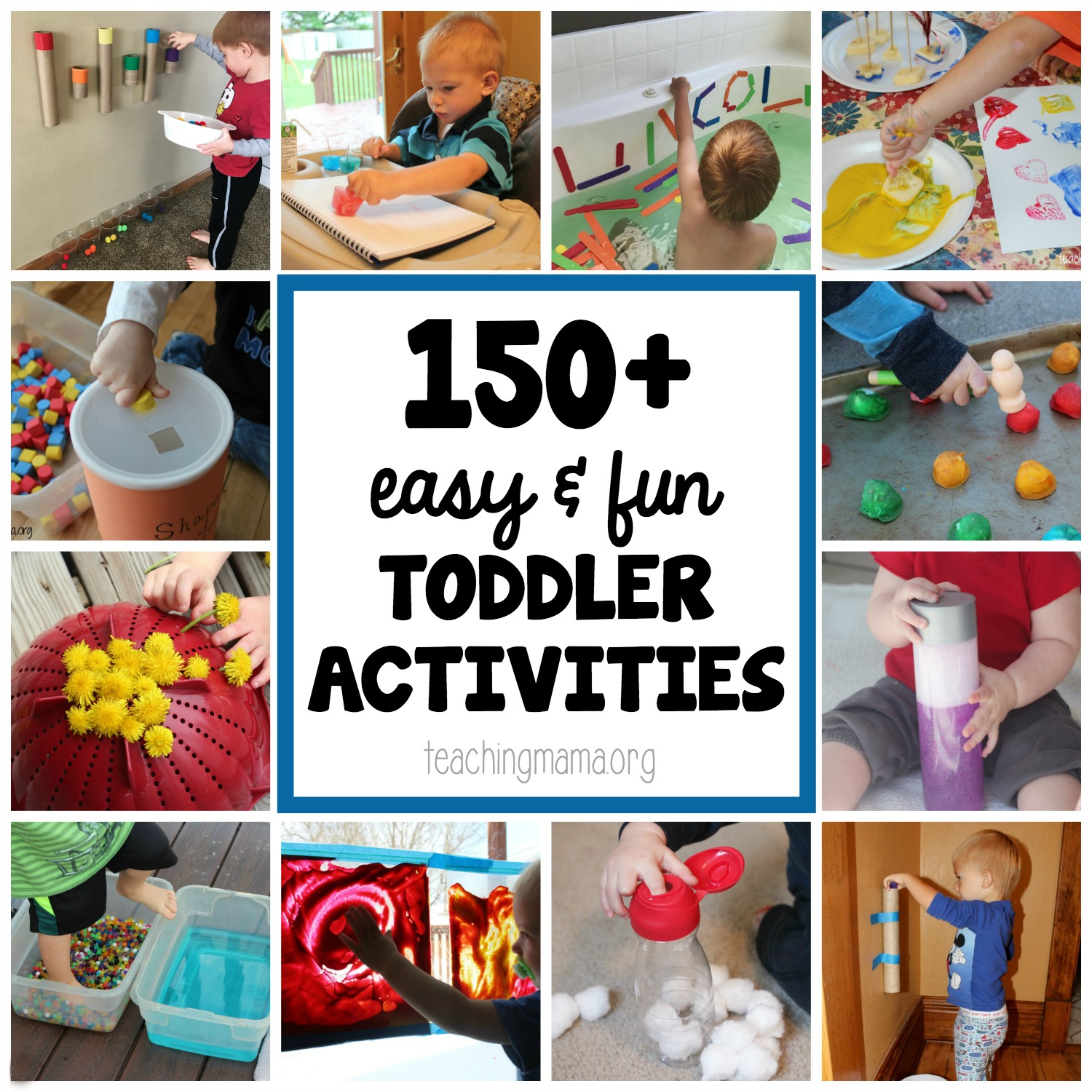 150+ Easy and Fun Toddler Activities