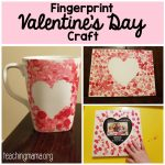 Fingerprint Valentine's Day Craft