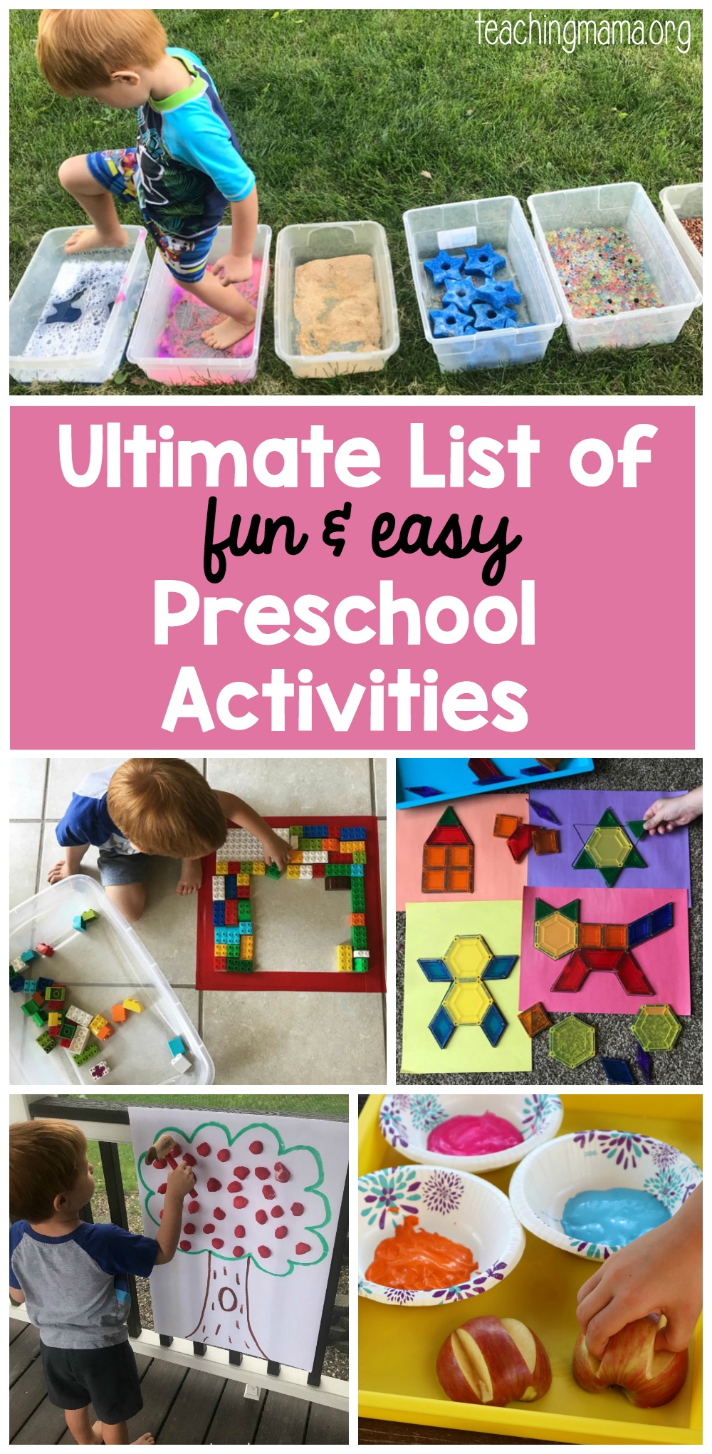 The Ultimate List Of Fun And Easy Preschool Activities