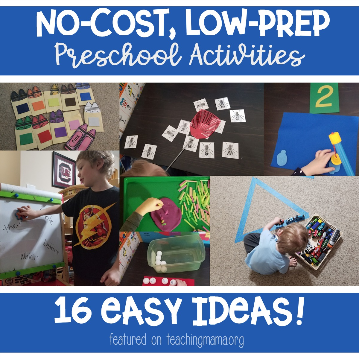 No-cost, low-prep preschool activities