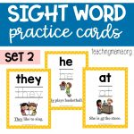 Sight Word Practice Cards – Primer Set