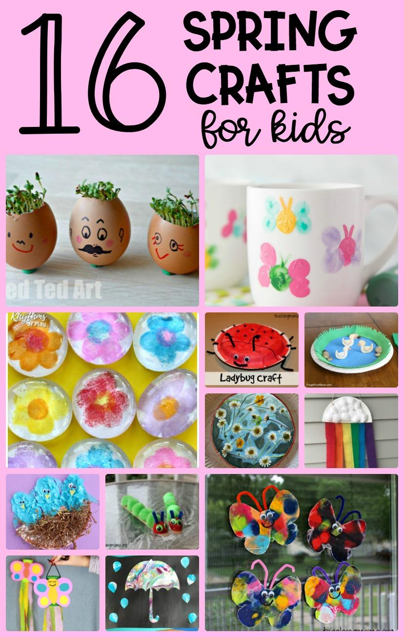 16 Spring Crafts For Kids