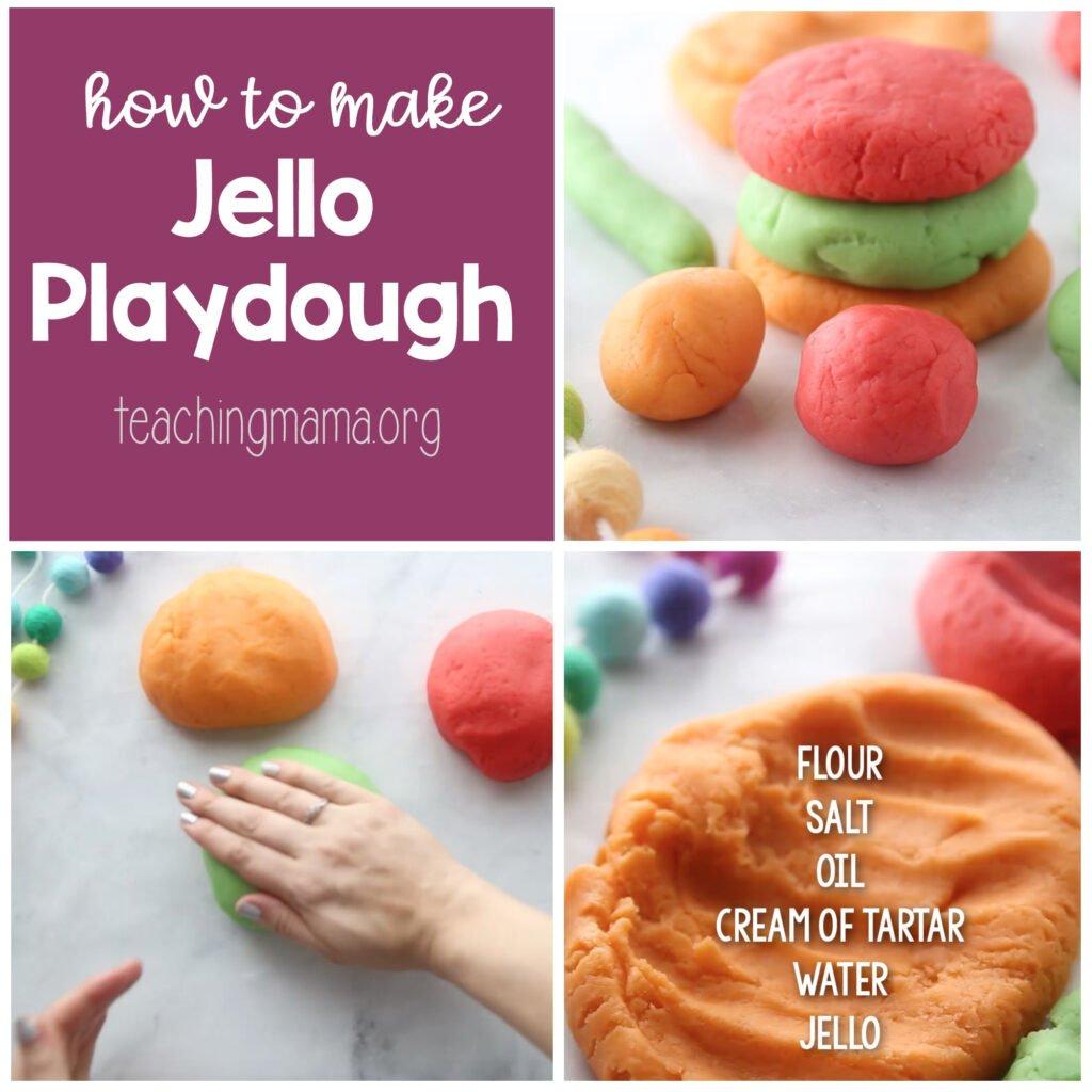how to make jello play dough