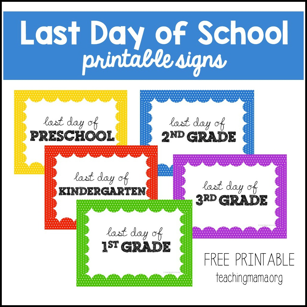 picture about Last Day of Preschool Sign Printable known as Very last Working day of Faculty Signs and symptoms