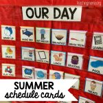 Summer Schedule Cards for Kids